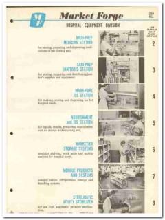 Market Forge Company 1964 Vintage Catalog Hospital Equipment Stations