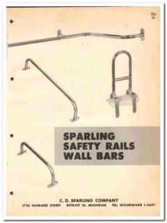 C D Sparling Company 1964 Vintage Catalog Safety Rails Wall Grab Bars