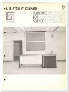 A B Stanley Company 1964 Vintage Catalog Furniture Science Laboratory