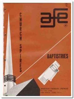 Associated Fiberglass Engineers 1964 Vintage Catalog Church Spires