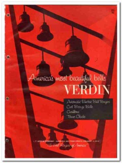 I T Verdin Company 1964 Vintage Catalog Church Bell Ringers Carillons