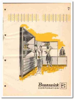 Brunswick Corp 1964 Vintage Catalog Furniture Sectional Cabinets
