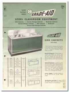 Grade-Aid Corp 1964 Vintage Catalog Classroom Steel Equipment Cabinets