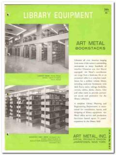 Art Metal Inc 1964 Vintage Catalog Shelves Bookcase Bookstacks Library