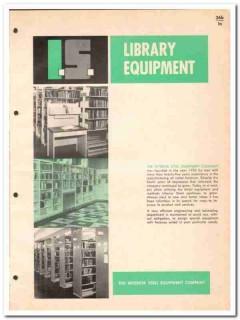 Interior Steel Equipment Company 1964 Vintage Catalog Shelving Library