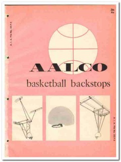 Aalco Mfg Company 1964 Vintage Catalog Basketball Backstops Equipment