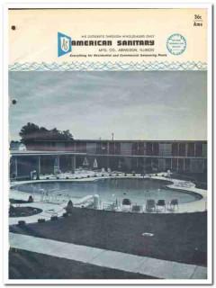American Sanitary Mfg Company 1964 Vintage Catalog Swimming Pools