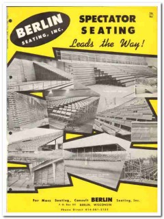 Berlin Seating Inc 1964 Vintage Catalog Spectator Bleachers EZ-A-Way