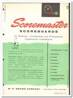 M D Brown Company 1964 Vintage Catalog Scoreboard Scoremaster Timer