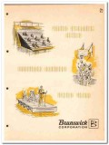Brunswick Corp 1964 Vintage Catalog Folding Gymnasium Seating Backstop