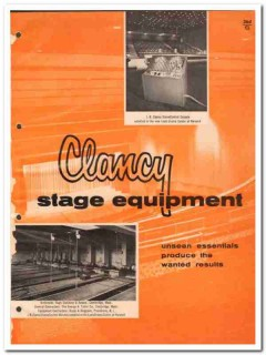 J R Clancy Inc 1964 Vintage Catalog Stage Equipment Rig Counterweight