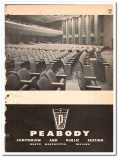 Peabody Seating Company 1964 Vintage Catalog Auditorium Public Chairs