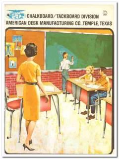 American Desk Mfg Company 1964 Vintage Catalog Asbestos Chalkboards