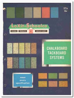 Beckley-Cardy Company 1964 Vintage Catalog Asbestos LoXit-Schoolco
