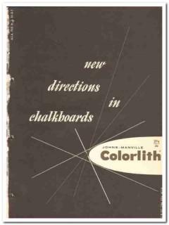 Johns-Manville 1964 Vintage Catalog Classroom Colorlith Chalkboards