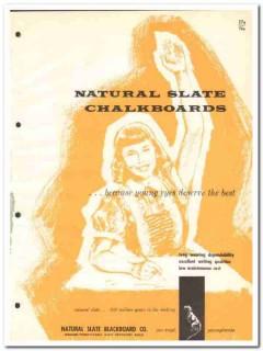 Natural Slate Blackboard Company 1964 Vintage Catalog Chalkboards