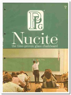 Pittsburgh Plate Glass Company 1964 Vintage Catalog Nucite Chalkboards