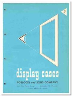 Poblocki Sons Company 1964 Vintage Catalog Display Cases Directory