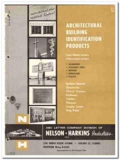 Nelson-Harkins Industries Inc 1964 Vintage Catalog Cast Metal Letters