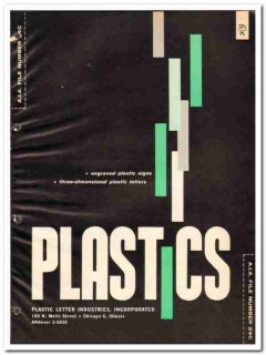 Plastic Letter Industries Inc 1964 Vintage Catalog Engraved Signs