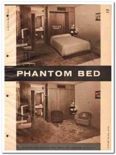 BHQ Corp 1964 Vintage Catalog Furniture Phantom Bed Murphy Concealed