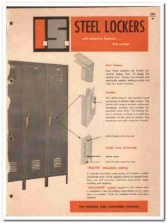 Interior Steel Equipment Company 1964 Vintage Catalog Lockers Sealtex