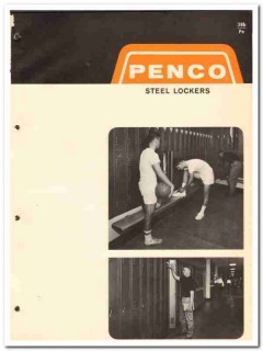 Penco Products Inc 1964 Vintage Catalog Lockers Steel Single Double