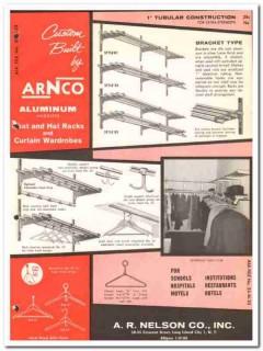 A R Nelson Company 1964 Vintage Catalog Coat Hat Racks Wardrobes Arnco