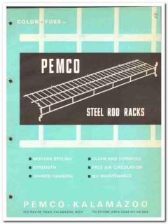 Pemco-Kalamazoo Inc 1964 Vintage Catalog Steel Rod Racks Color-Fuse