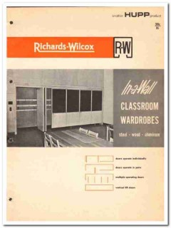 Hupp Corp 1964 Vintage Catalog Classroom Wardrobes Richards-Wilcox