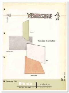 Home Comfort Products Company 1964 Vintage Catalog Steel Shelf X-Panda