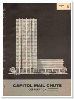 Capitol Mail Chute Corp 1964 Vintage Catalog Commercial Building Boxes