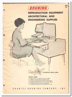 Charles Bruning Company 1964 Vintage Catalog Reproduction Equipment