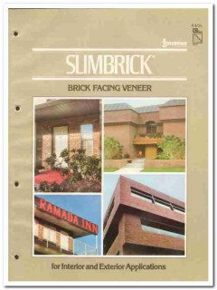 Interpace Corp 1982 Vintage Catalog Brick Facing Veneer Slimbrick