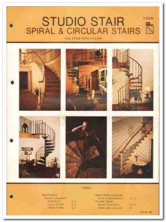 American General Products Inc 1982 Vintage Catalog Studio Stair Spiral
