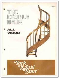 Architectural Woodcraft Company 1982 Vintage Catalog York Spiral Stair