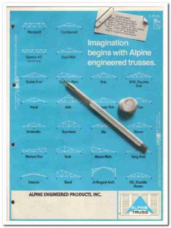 Alpine Engineered Products Inc 1982 Vintage Catalog Wood Truss Joists