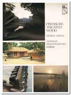 American Wood Preservers Institute 1982 Vintage Catalog Pressure Treat