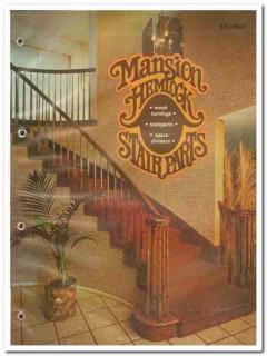 Mansion Industries Inc 1982 Vintage Catalog Stair Parts Michael-Regan
