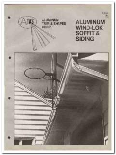 Aluminum Trim Shapes Corp 1982 Vintage Catalog Siding Wind-Lok Soffit