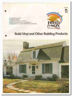 Bird Son Inc 1982 Vintage Catalog Siding Solid Vinyl Building Products