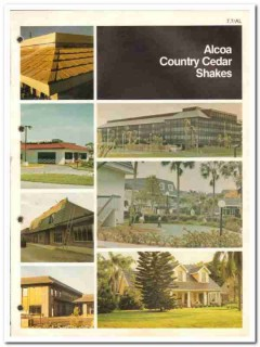 Alcoa Building Products Inc 1982 Vintage Catalog Roofing Cedar Shakes