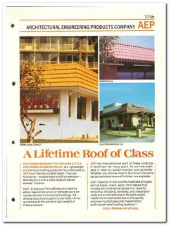 Architectural Engineering Products Company 1982 Vintage Catalog Roof