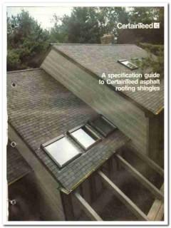 Certainteed Corp 1982 Vintage Catalog Roofing Asphalt Shingles Guide