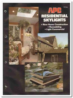 APC Corp 1982 Vintage Catalog Skylights Sky-Vue Kleer-Vue Residential