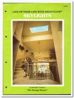Bristol Fiberlite Industries 1982 Vintage Catalog Skylights Bristolite
