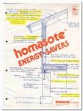 Homasote Company 1982 Vintage Catalog Insulation Paneling Energy Saver