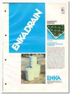 American Enka Company 1982 Vintage Catalog Enkadrain Foundation Drain