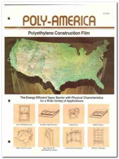 Poly-America Inc 1982 Vintage Catalog Polyethylene Construction Film