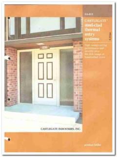 Castlegate Industries Inc 1982 Vintage Catalog Door Steel-Clad Thermal